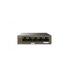 Tenda TEG1105PD - 5-port PoE PD Gigabit Ethernet Switch, 1x PoE IN, 4x PoE OUT, Kov, Fanless