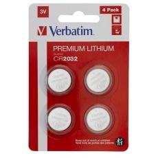 VERBATIM Lithium baterie CR2032 3V 4ks v balení