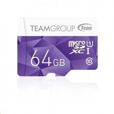 TEAM MicroSDXC karta 64GB Color Card U1 (R:80MB/s, W:15MB/s)
