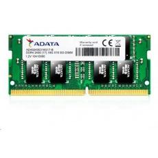 SODIMM DDR4 4GB 2400MHz CL17 ADATA Premier memory, 512x16, Retail