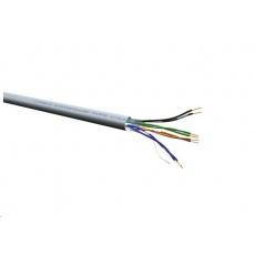 Roline UTP drát 300m, cat.6 Cu (Class E), Solid Wire, AWG24, LSOH, šedý