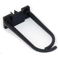 TRITON Plastový háček pro vedení kabeláže velký, 60x30mm, černý