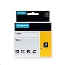 PRINTLINE kompatibilní páska s DYMO 1805436, 19mm x 5,5m, černý tisk / bílý podklad, RHINO, vinylová