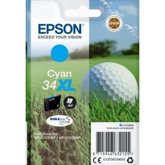 """EPSON ink bar Singlepack """"Golf"""" Cyan 34XL DURABrite Ultra Ink 10,8 ml"""