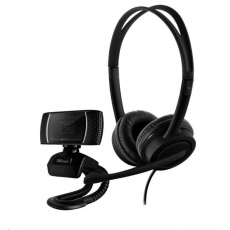 TRUST set webcamera + headset DOBA 2-in-1, Home-office set