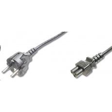 """PREMIUMCORD Kabel napájecí 230V pro NTB 2m (3pin C5, trojlístek, """"Mickey Mouse"""")"""