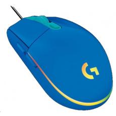 Logitech herní myš Gaming Mouse G203 LIGHTSYNC 2nd Gen, EMEA, USB, blue