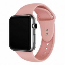 eses Silikonový řemínek 38mm/40mm S/M/L růžový pro Apple Watch