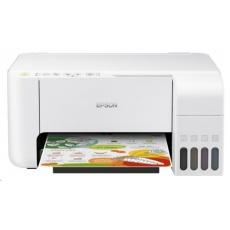 EPSON tiskárna ink EcoTank L3156, 3v1, A4, 1440x5760dpi, 33ppm, USB, Wi-Fi, Wi-Fi Direct, Bílá, 3 roky záruka po reg.